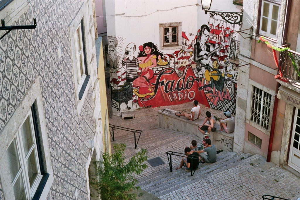 Graffiti Fado Lissabon