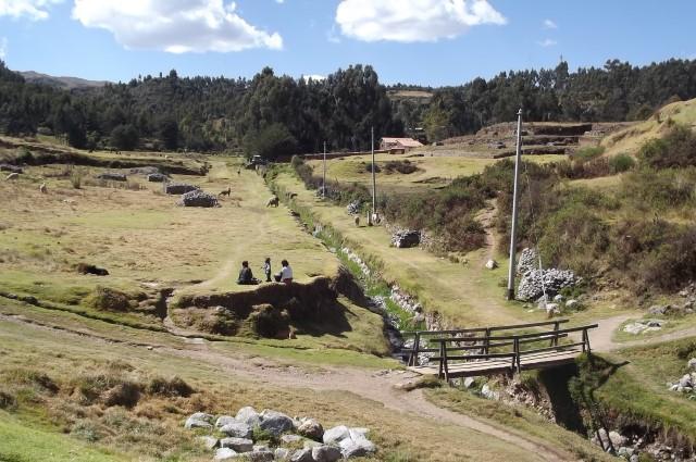 Landschaft und Familie in Cusco, Peru