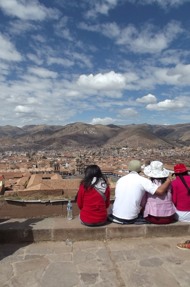 Ausblick über Cusco, Peru