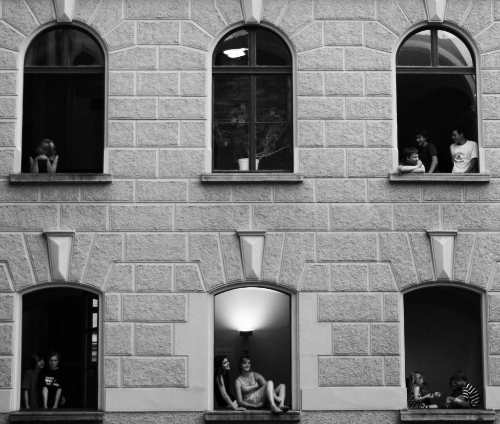 Fenster Menschen
