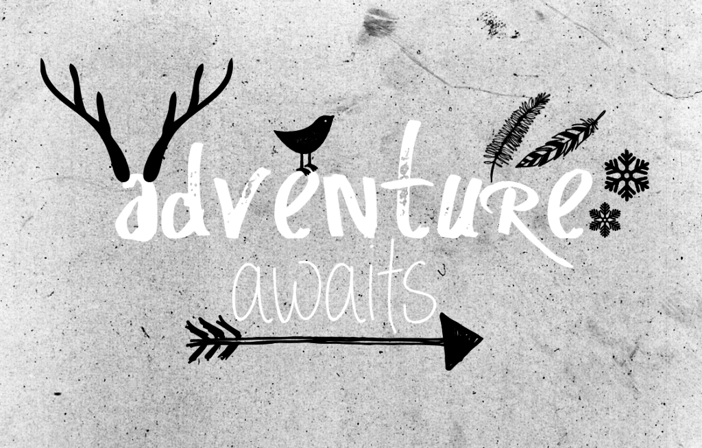 Adventure Awaits Typography