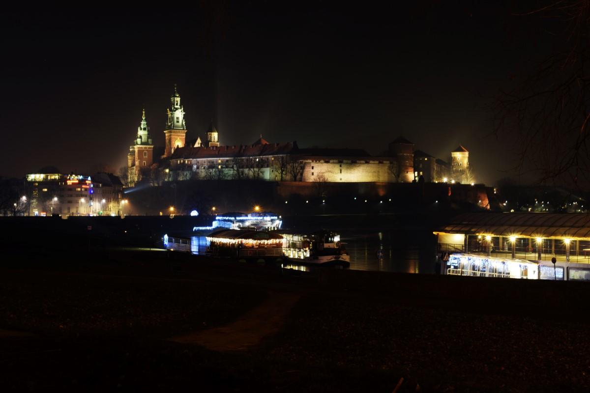 Krakau bei Nacht