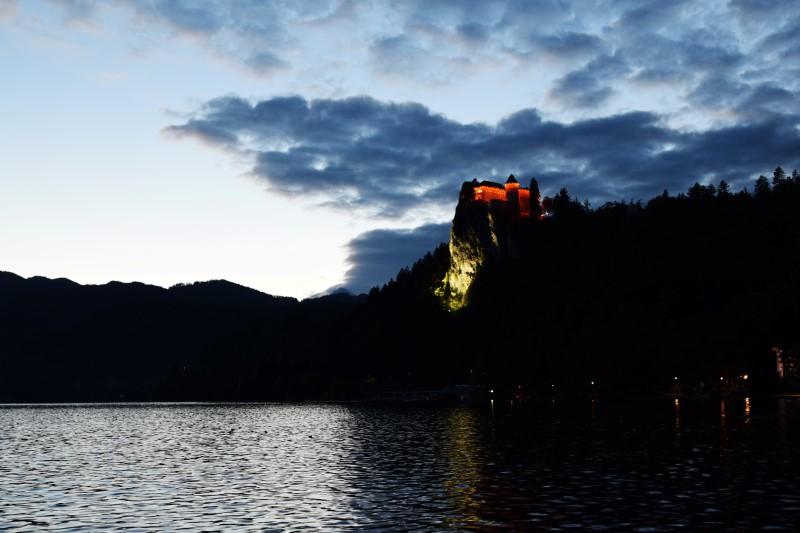 Bled Burg Sonnenuntergang