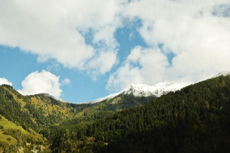 Zugfahrt Alpen